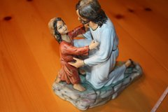 Handpainted Jesus /child pottery in Ramstein, Germany