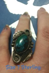 Vintage Turquoise & Sterling Ring Size 7 in Warner Robins, Georgia