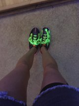 Glow in the black light Real bowling shoes! in Summerville, South Carolina