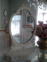 Vintage Shabby chic mirror with bow in Bolingbrook, Illinois