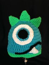Toddler size monster hat hand made in Lawton, Oklahoma
