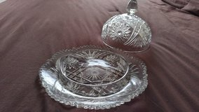 Depression glass cheese ball dish in Naperville, Illinois