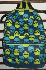 Skull backpack in Lackland AFB, Texas