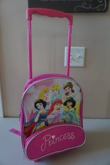Disney Princess Backpack w/ Wheels in Joliet, Illinois