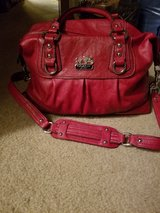 Large red coach purse in Naperville, Illinois