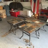 3 Piece Patio Tables Slate Top in Naperville, Illinois