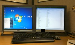 "Two Sony 19"" LCD Monitors with Power Cords and VGA Cables. in Camp Lejeune, North Carolina"