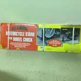 US General Motorcycle stand with wheel chock- New in Houston, Texas