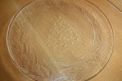 """Round Glass Christmas Serving Platter 13"""" in Ramstein, Germany"""