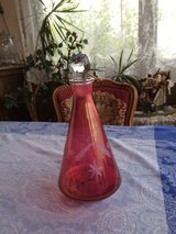 Elegant Rose Colored Decanter in Ramstein, Germany