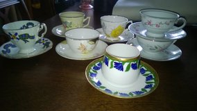 Vintage tea cups and saucers in Glendale Heights, Illinois