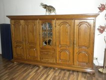 Massive sideboard - real wood, oak, five doors with three shelves at each side, in the middle of... in Baumholder, GE