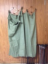 Pretty green tab top curtains in Fort Leavenworth, Kansas