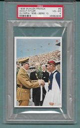 ORIGINAL AND RARE 1936 MUHLEN FRANCK TOBACCO CARD OF ADOLF HITLER GRADED AND AUTHENTICATED BY PSA. in Ramstein, Germany