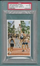 ORIGINAL AND RARE 1936 OLYMPICS MUHLEN FRANCK TOBACCO CARD OF USA BASKETBALL WINNING GOLD GRADED... in Ramstein, Germany