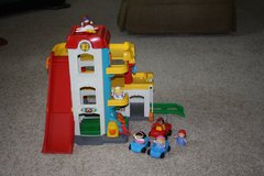 Fisher Price Parking Garage and Car Wash with cars and little people in Camp Lejeune, North Carolina