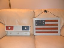 Americana wood mail / coupon holder and shelf in Bartlett, Illinois