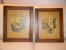 2 Paul Porter Lithographs / Paintings in St. Charles, Illinois