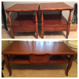Antique 1950s coffee table and end tables in Valdosta, Georgia