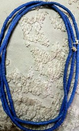 Natural Stone African Trade Bead Necklace BLUE in Warner Robins, Georgia