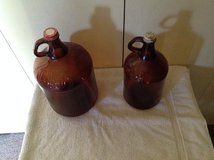 Old Amber Clorox Bottles in Cherry Point, North Carolina