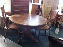 Solid Wood Oak Kitchen Table and 2 Chairs in Fort Polk, Louisiana