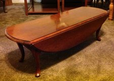 Vintage Cherry wood furniture-drop leaf coffee table in Hinesville, Georgia