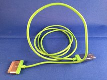 iPhone 5 cord - 4' green in Fairfield, California