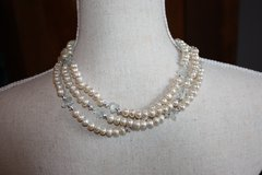 Three Strand Pearl Necklace in Ramstein, Germany