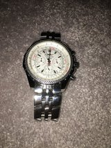 BRAND NEW MINT BREITLING BENTLEY MEN'S WATCH STAINLESS STEEL SAPPHIRE CRYSTAL WITH STICKER AND L... in Okinawa, Japan