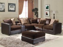 Sectional with Console/Cupholder Table - can be made larger or smaller - monthly payments possible in Aviano, IT