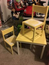 TABLE & 2 CHAIRS - kids yellow in Naperville, Illinois