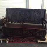 Rare antique monks bench - 2 seats - dated 1900 in Ramstein, Germany