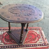 Oval table from England oakwood, hand-carved circa 1850 in Ramstein, Germany