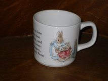 wedgewood peter rabbit mug-england in Naperville, Illinois