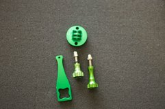 Anodized Aluminum Tripod Mount for GoPro in green in Okinawa, Japan