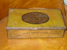 vintage tin diplomaticos cigar box in Naperville, Illinois