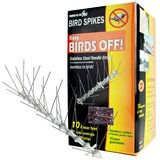 Bird-X Stainless Steel Bird Spikes Kit, Covers 10 feet in Glendale Heights, Illinois
