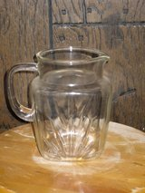 "7"" federal glass sunburst pitcher-1940s in Naperville, Illinois"