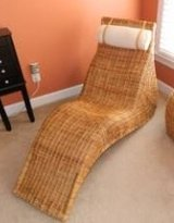 Rattan chaise lounge chair in Colorado Springs, Colorado