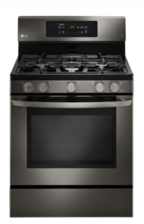 LG Black Stainless Gas Stove in Conroe, Texas