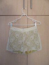 SMALL  Cream Gold Lace Shorts Vintage Boho in Stuttgart, GE