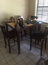 Counter-height Table w/ 4 chairs in Pensacola, Florida