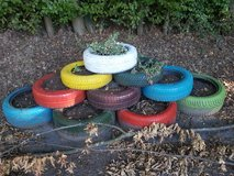 Garden Decoration Tires (Reserved) in Ramstein, Germany