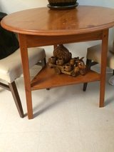 Oak wood table in Schofield Barracks, Hawaii
