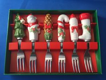 6 holiday hors d'oeuvre forks in Travis AFB, California
