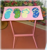 Hand Painted Flip Flop Side Table Accent table in Wilmington, North Carolina