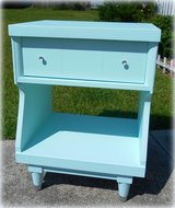 Sky Blue Mid Century Modern Night Stand Side Table in Wilmington, North Carolina