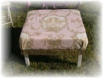 Shabby Chic Cottage Handmade Pink Toile Ottoman in Wilmington, North Carolina