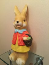 Ceramic Easter Bunny in Glendale Heights, Illinois